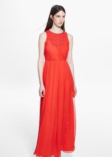 Mango Dlouhé plisované šaty - Glami.cz b637388004a