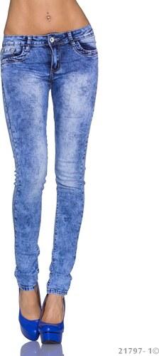6e0e015df23 Dámské plísňové skinny džíny - světle modré - Glami.cz