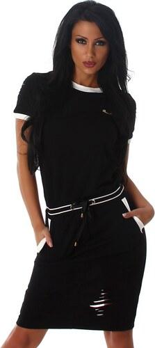 Sportovní šaty Jela London černé Velikost  S M - Glami.cz 052390f752