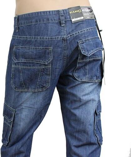 ST LEONF kalhoty pánské DS33 kapsáče jeans džíny - Glami.cz 7151c4ae50