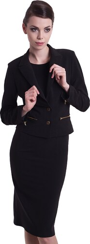 KARTES MODA komplet kostým KM632 luxusní sako a šaty - Glami.cz 4377a6eb27