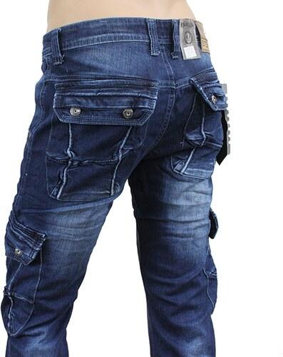 NEW FEELING kalhoty pánské A4249 kapsáče jeans džíny - Glami.cz 9a49bbe46b