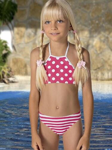 4d314eb9900 Lorin Dívčí dvoudílné plavky MAILLOT 2 PIECES MODEL 52 ROSE - Glami.cz