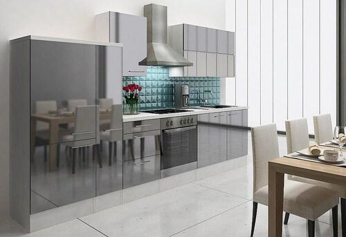 Küchenzeile mit E-Geräten »Lea«, Breite 310 cm, Korpus weiß - Set 2