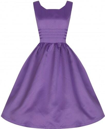 Retro šaty Lindy Bop Iris Lilac - Glami.cz d25fe96212a