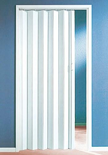 Kunststoff-Falttür, Breite bis 90 cm, weiß