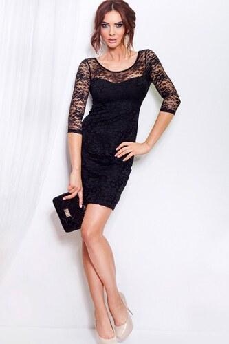 Dámské krajkové mini šaty černé SaF - Glami.cz d8d57e3cd0