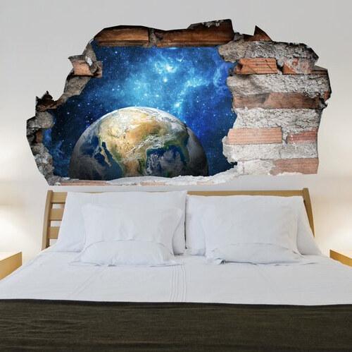 Lesara sticker mural univers effet 3d - Lesara wandsticker ...