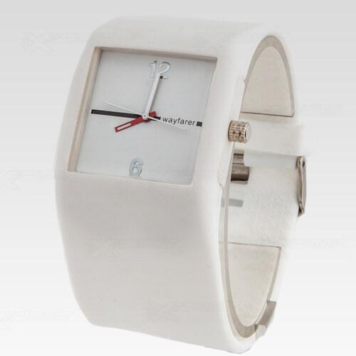 Silikonové analogové hodinky Wayfarer Cosmos bílé 2201 - Glami.cz 87b619225e