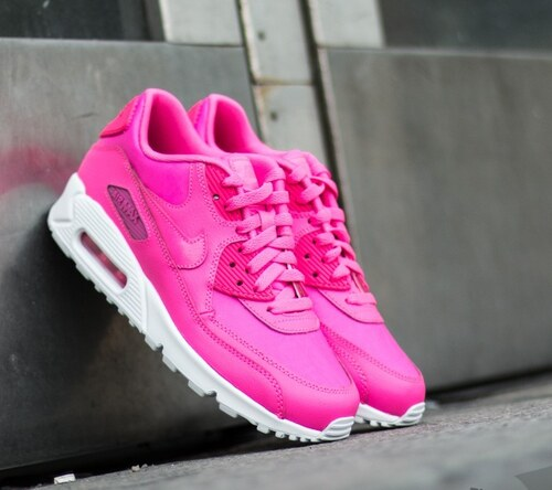 Nike Air Max 90 Leather GS Pink Pow  White US 4.5 - Glami.cz 38723bd39b