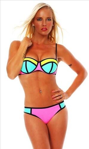 POWER FLOWER Barevné dámské plavky push-up - Glami.cz 3a38466816