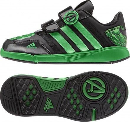 adidas Performance DY Avengers Lo CF K B23893 CBLACK SEFLLI GREEN 34 ... 929abb617c