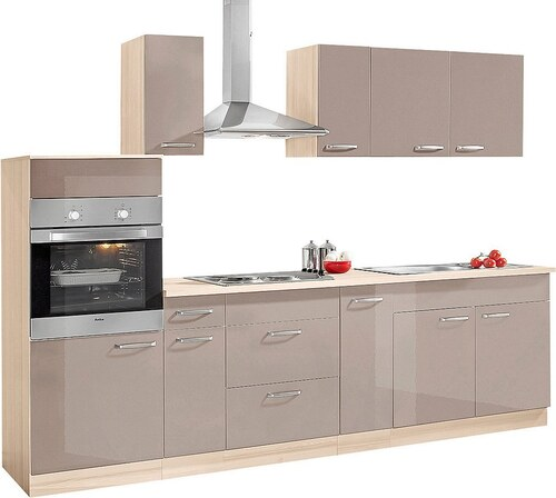 Küchenzeile mit E-Geräten »Basel«, Breite 280 cm