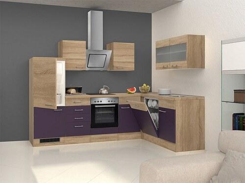 Winkel-Küchenzeile mit E-Geräten »Rio«, 280 x 170 cm, inkl. 2. Frontensatz gratis dazu
