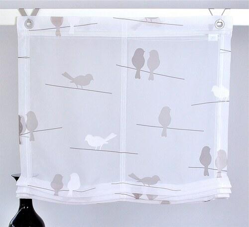 Raffrollo, Kutti, »Birds« (1er Pack) ohne Bohren