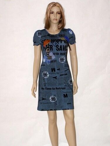 44405fecf552 Šedé úpletové šaty se vzorem 6413 Andrea Martiny 40 - Glami.cz