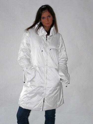 Bílý dámský prošívaný péřový kabát Veltex L - Glami.cz e38ad6a18e