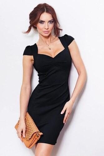 26a9c9769137 Elegantní černé pouzdrové krátké šaty SaF - Glami.cz