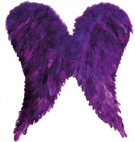 Andělská křídla péřová fialová