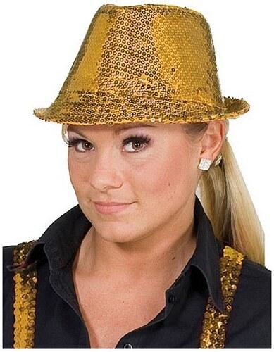 Flitrový klobouk - černá