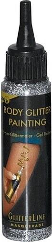 Body paint glitter - stříbrná