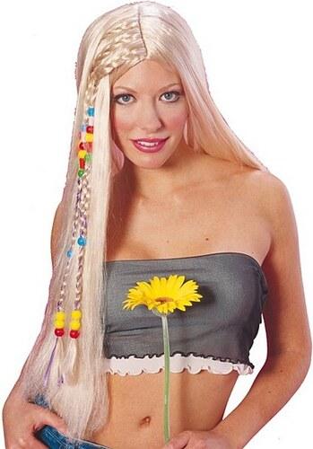 Hippie - karnevalová paruka - černá