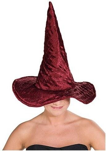 Čarodějnický klobouk vínový lux