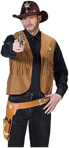 Kovbojská vesta hnědá - 50