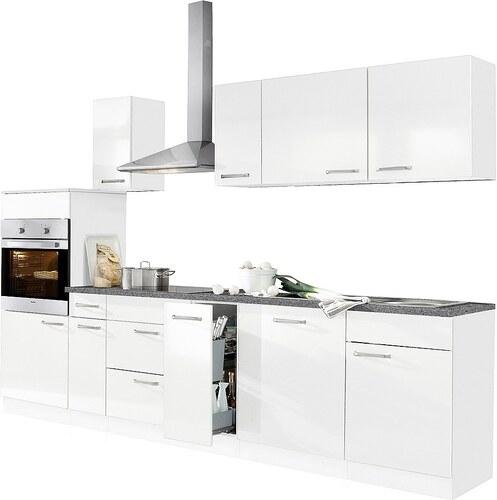 Küchenzeile mit E-Geräten »Basel«, Breite 290 cm