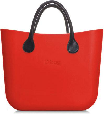 O bag kabelka mini červená s držadlem koženka černá krátká - Glami.cz 99a9f353d78