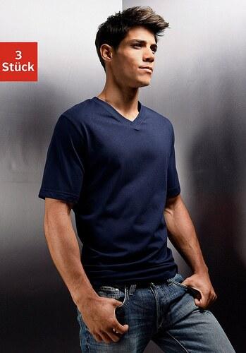 """T-Shirts mit V-Ausschnitt (3 Stück), Baumwolle """"Cotton made in Africa"""""""