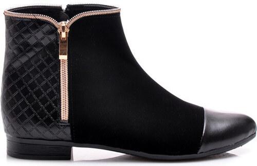 CNB Ohromujúce semišové nízke členkové topánky s prešívaním - Glami.sk 9708a644c49