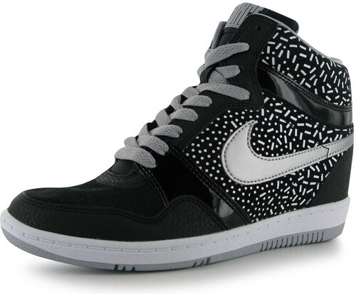 f8fc021a322 boty Nike Force Sky Print dámské Hi Tops Black Silver - Glami.cz