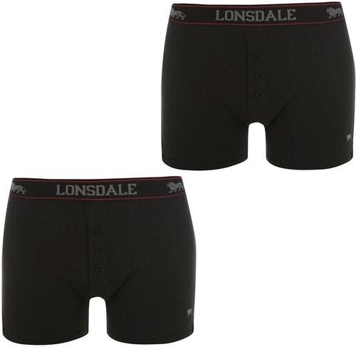 Boxerky Lonsdale 2 Pack Black - Glami.cz d2b8869ccf