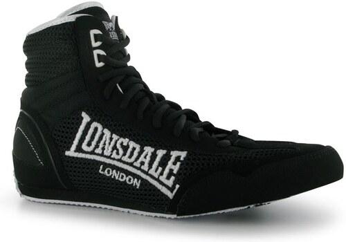 boty Lonsdale Contender pánské Boxing Boots Black White - Glami.sk 8aa499b479