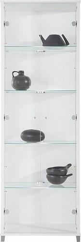 Vitrine, 2-türig, Höhe 172 cm, 4 Glasböden