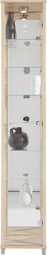 Vitrine, 1-türig mit Spiegelrückwand, 7 Glasböden