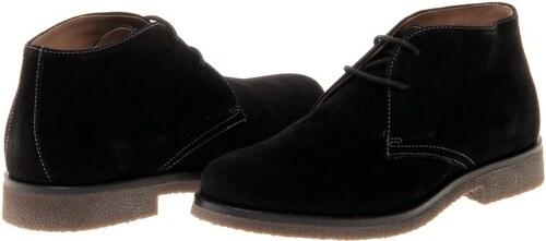 Geox pánská kožená kotníčková obuv 45 černá - Glami.cz b80d31a5c9