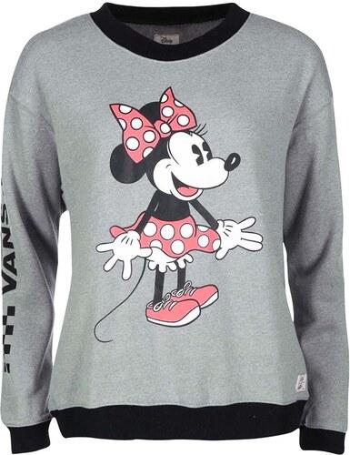 Šedá dámská mikina s potiskem Minnie Vans Disney Minnie - Glami.cz 33bc3eb1e83