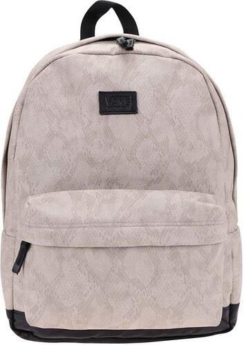 Světle šedý batoh se vzorem hadí kůže Vans Cameo - Glami.cz 7f6fdf4925