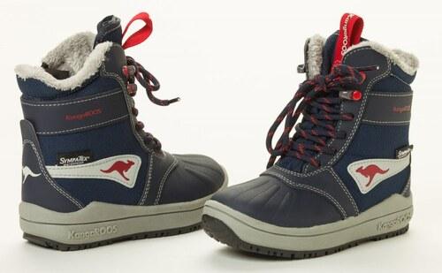 KangaROOS chlapecká kotníčková obuv Kanga - Tex 34 modrá - Glami.cz fd889432d10
