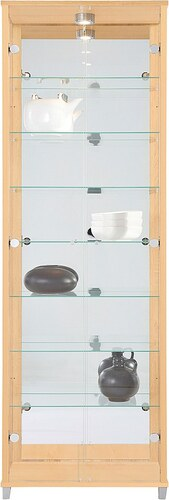 Vitrine, 2-türig mit Spiegelrückwand, 7 Glasböden