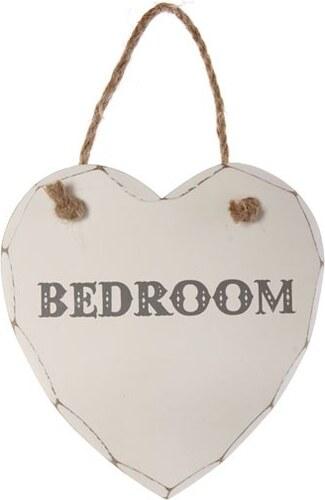 Dekorační srdce k zavěšení Bedroom