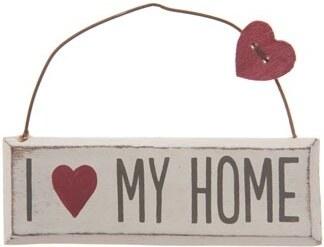 Dekorační závěsná cedulka Love my home