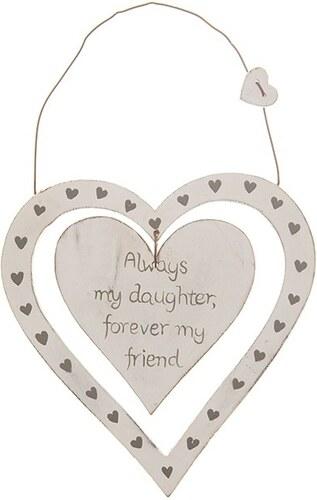 Dekorační závěsné srdce Always my daughter