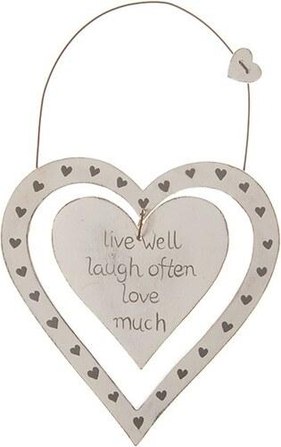 Dekorační závěsné srdce Live Well