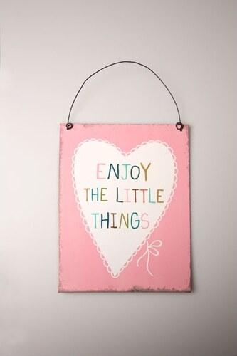 Dekorační závěsná cedulka Enjoy The Little things