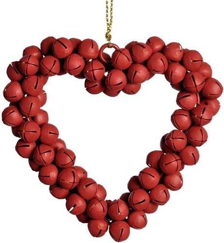 Závěsné srdce z rolniček Jingle