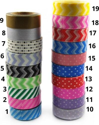 Samolepící barevné pásky Styl 1