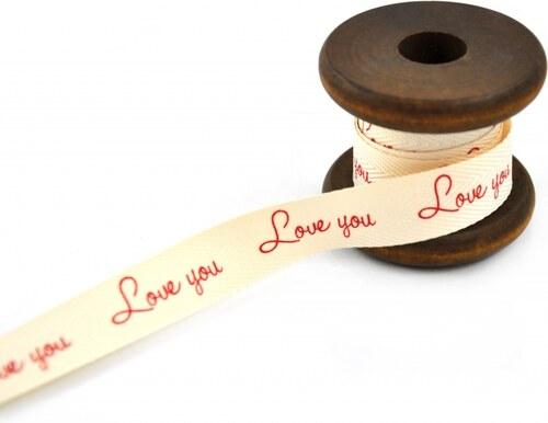 Dárková stuha Love You - 4m